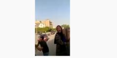 فيديو دينا مراجيح كامل شجار المقطم مع الشباب